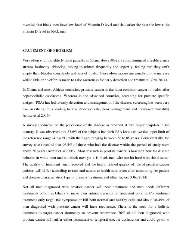 Prostate Cancer Essay Sample