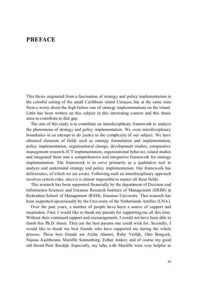 Preface acknowledgements thesis