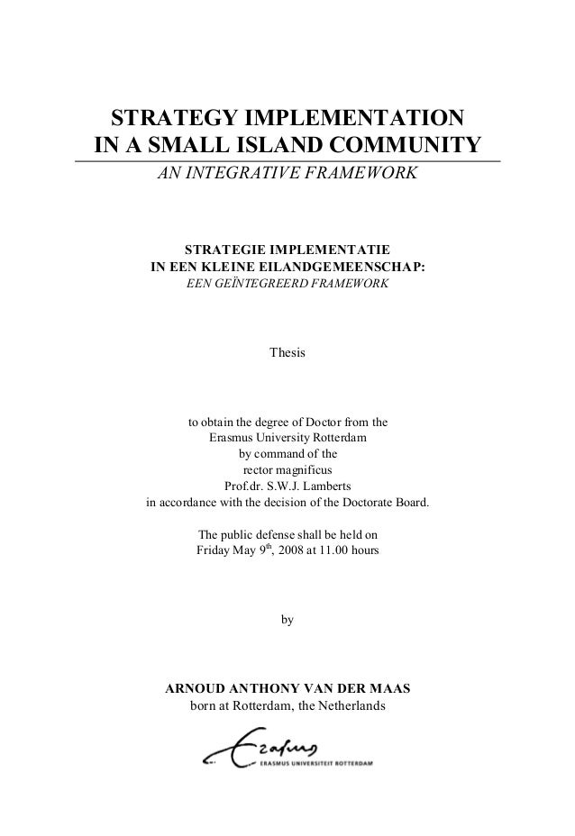Phd thesis on strategy