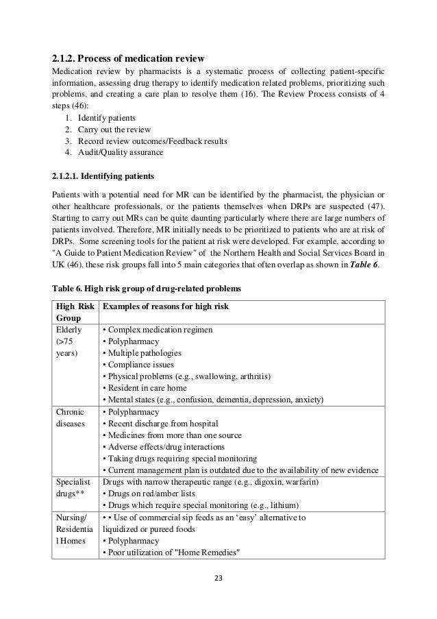 Phd thesis community pharmacy