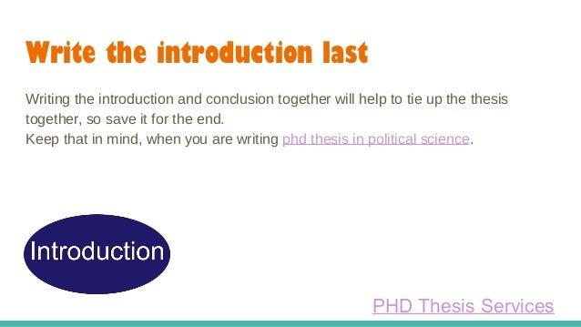 introduction in phd thesis writing I am in the process of writing my phd thesis and struggling with the introduction chapter, what to cover, what not this is a technical thesis the broad area is.