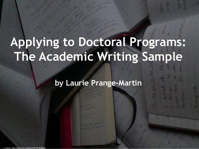 Writing phd programs