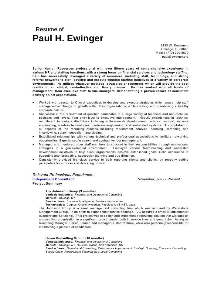 Resume of Paul H. Ewinger                                                                                             1433...