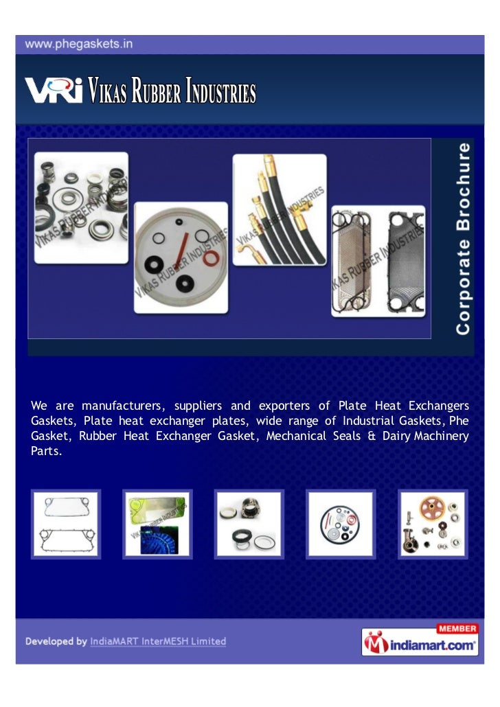 We are manufacturers, suppliers and exporters of Plate Heat ExchangersGaskets, Plate heat exchanger plates, wide range of ...