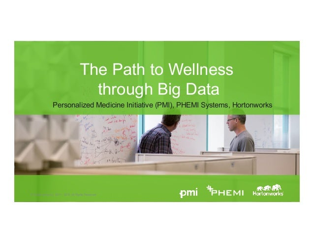 Page 1 © Hortonworks Inc. 2011 – 2015. All Rights Reserved The Path to Wellness through Big Data Personalized Medicine Ini...