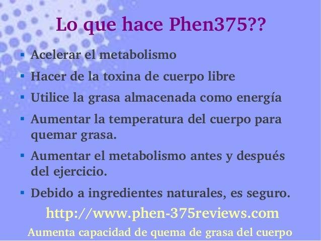 TABLETAS DE PHEN375