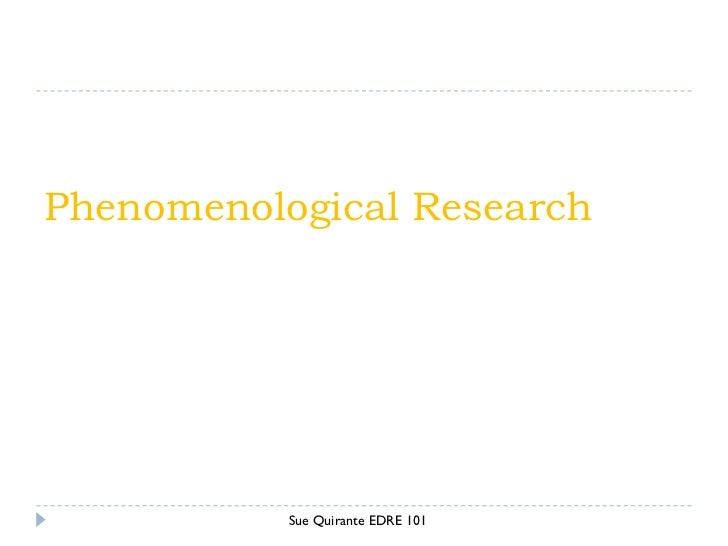 Phenomenology qualitative research definition