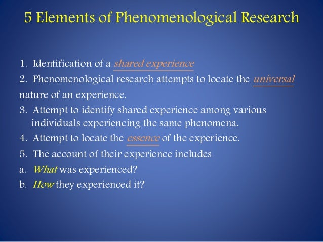 phenomenological research ppt