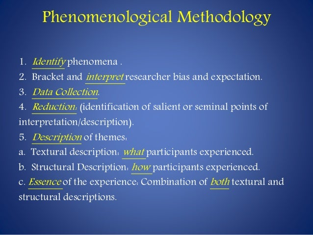 phenomenological approach to personality Experience and understand the university a phenomenological study into how students experience and understand trait theory and personality perspective.