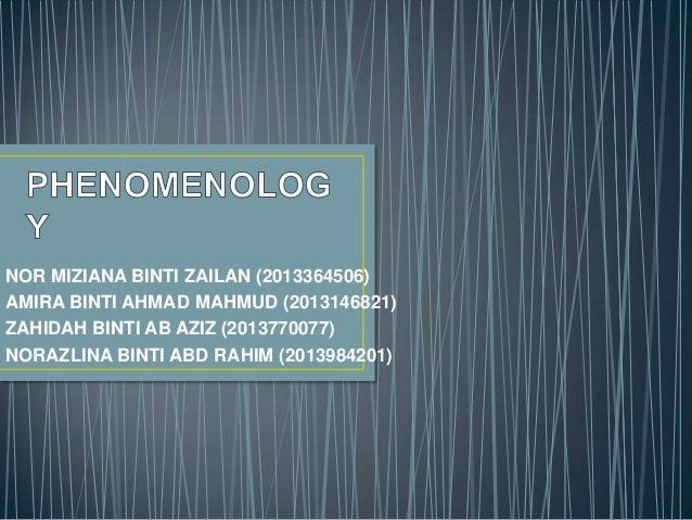 NOR MIZIANA BINTI ZAILAN (2013364506) AMIRA BINTI AHMAD MAHMUD (2013146821) ZAHIDAH BINTI AB AZIZ (2013770077) NORAZLINA B...