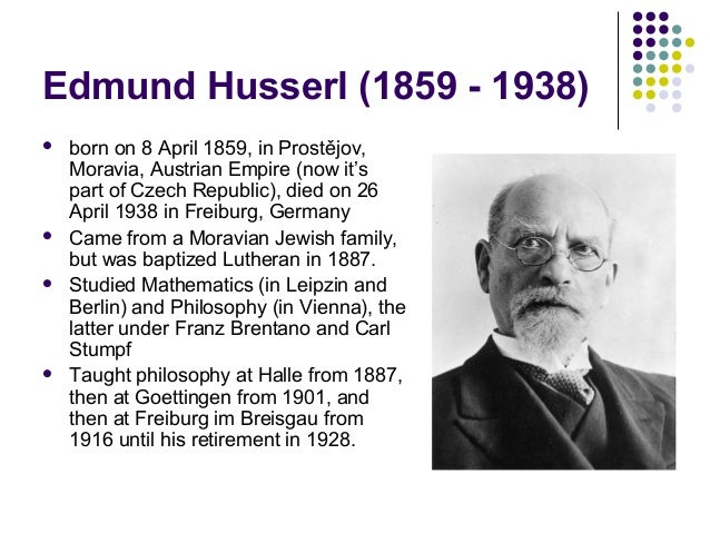 Edmund husserl phenomenology summary