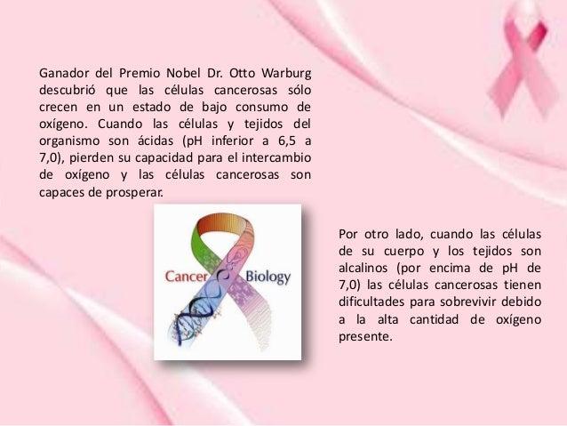 Ganador del Premio Nobel Dr. Otto Warburg descubrió que las células cancerosas sólo crecen en un estado de bajo consumo de...