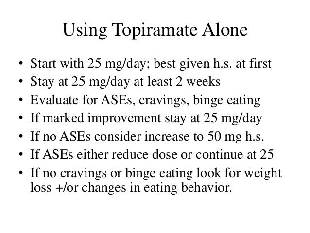 topiramate for weight loss what amount