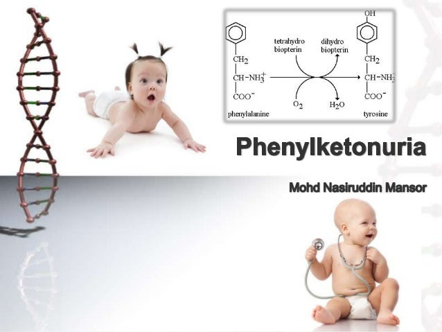 Overview • Autosomal recessive metabolic genetic disorder • Mutation in the gene for phenylalanine hydroxylase(PAH). • Whe...