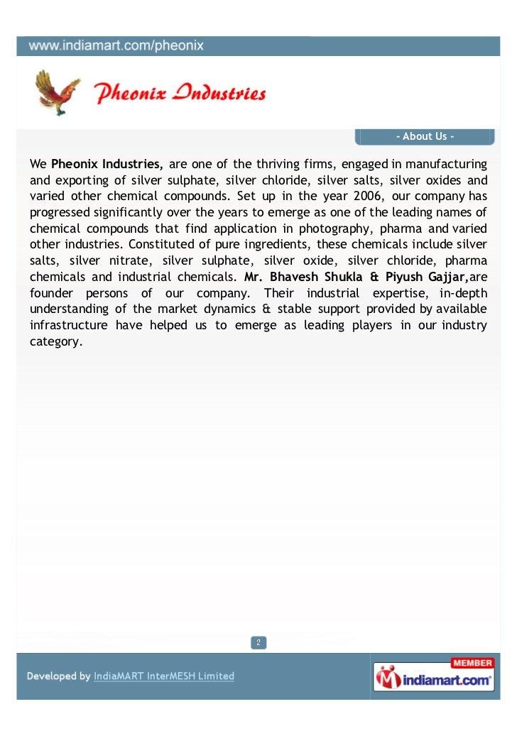 Pheonix Industries, Ahmedabad, Chemical Salts Slide 2