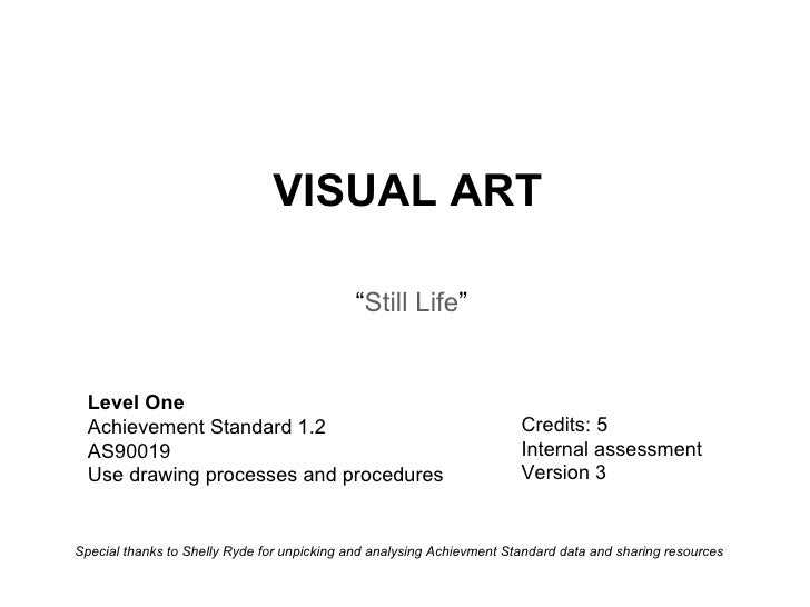 Level One Achievement Standard 1.2 AS90019 Use drawing processes and procedures  Credits: 5 Internal assessment  Version 3...