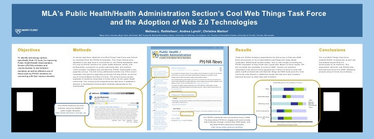 MLA's Public Health/Health Administration Section's Cool Web Things Task Force  and the Adoption of Web 2.0 Technologies  ...