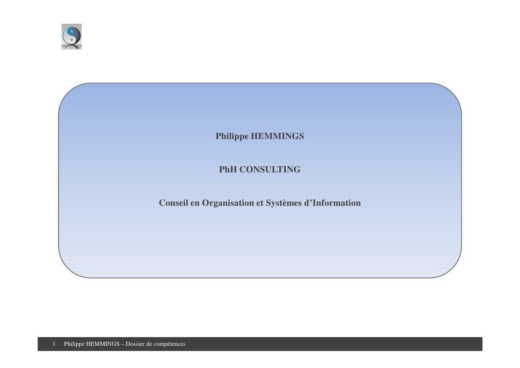 Philippe HEMMINGS                                                     PhH CONSULTING                                      ...