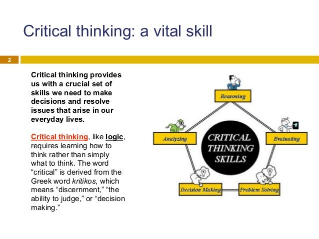 logic question essays Critical thinking employs not only logic but broad intellectual criteria such as clarity through the use of critical thinking, nurses can question.