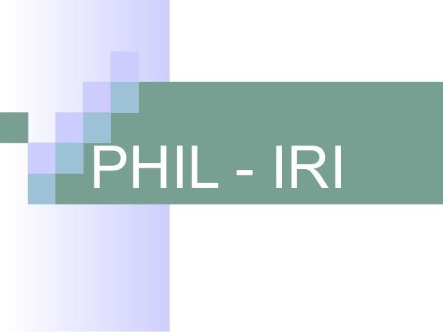 PHIL - IRI