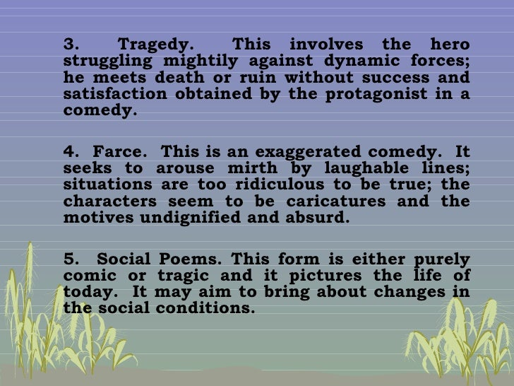 Phil literature for Farcical comedy definition
