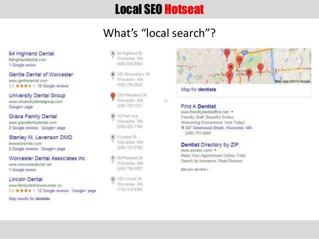 Local SEO Hotseat Slide 3