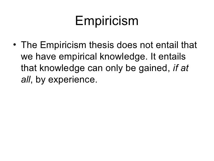 empiricism and experience essay Empiricism essays: over 180,000 order plagiarism free custom written essay they also give us experience through are own mental operations such as.
