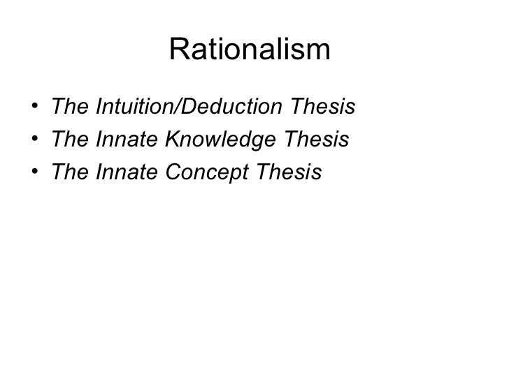 intuition deduction thesis