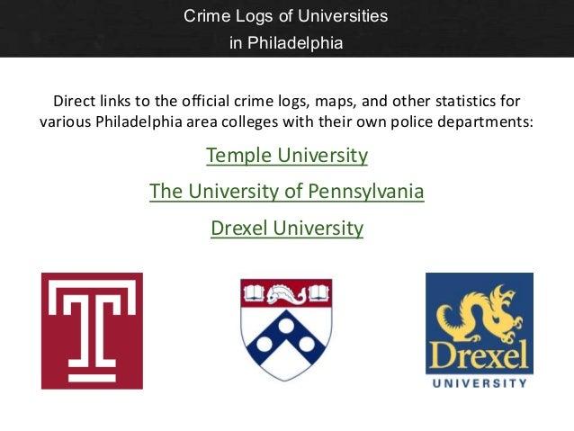 Philadelphia Crime Statistics Maps And Tools - Philadelphia university map