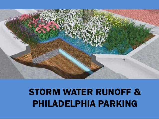 STORM WATER RUNOFF &PHILADELPHIA PARKING