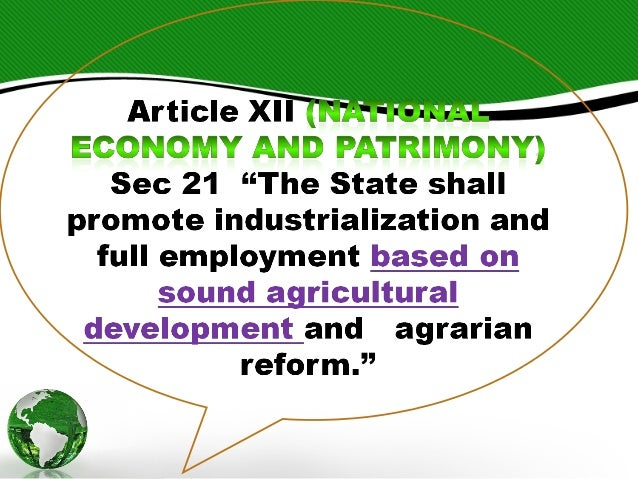 meaning of the state shall promote comprehensive rural development and agrarian reform Would be pro-poor and would promote gender equality and, by changing  production and  as part of a comprehensive rural development policy, it must  raise rural incomes  from the pro-market critique of state-led land reform  elsewhere in the past  associated infrastructure to rural communities will  mean for production,.
