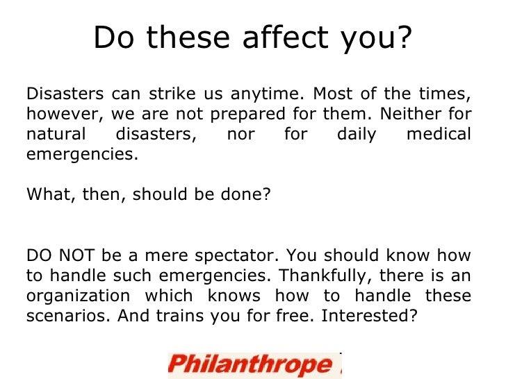 Who Should Handle Natural Disaster
