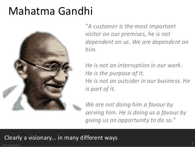 gandhi definition of customer relationship