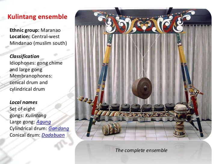 kulintang musical instrument of the philippines It is traditionally played by women and is the melodic instrument in a kulintang as musical instruments , music, musical instruments, philippines, pkm.