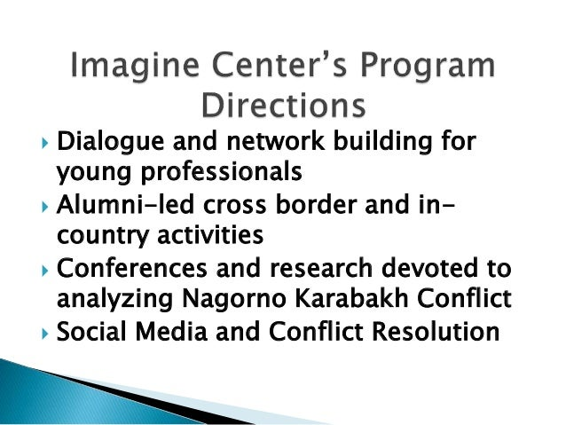  Launched: on April 15, 2010. On-line Journal of Conflict Transformation: Caucasus Edition  Purpose: contribute to impro...