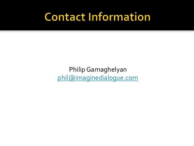 Phil Gamaghelyan presentation