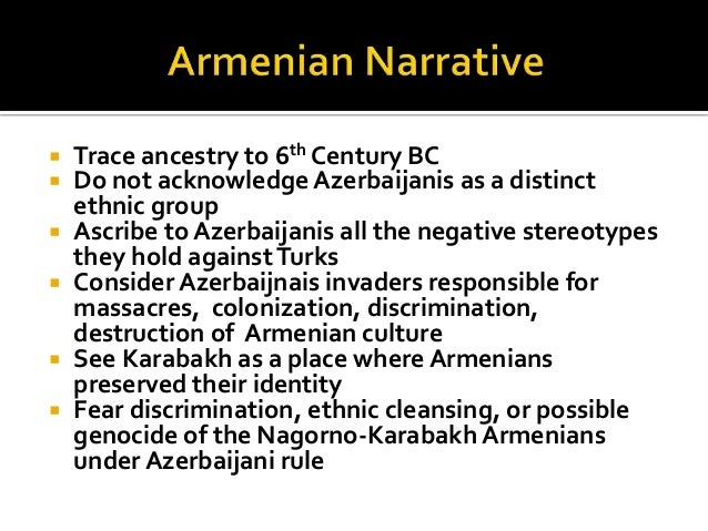  Trace ancestry to 6th Century BC  Do not acknowledge Azerbaijanis as a distinct ethnic group  Ascribe to Azerbaijanis ...