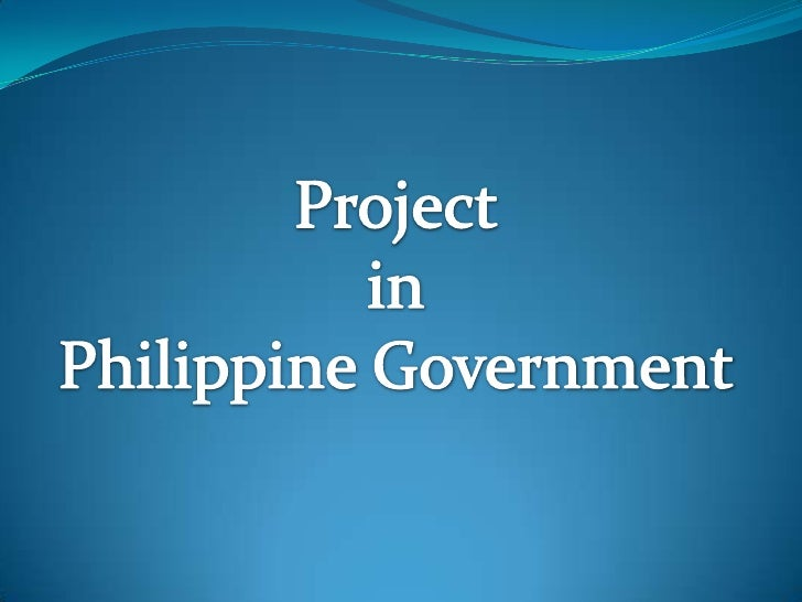 Project<br />in<br />Philippine Government<br />