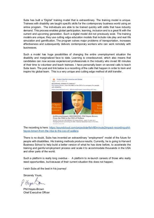 Phil Hayes : CEO Wallara Australia : Project Starfish Slide 2