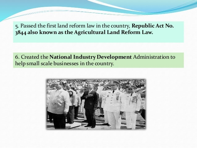 republic act 3844 Republic act no 6389 (september 10, 1971), an act amending ra 3844,  otherwise known as  from the effectivity of said act (1988) it vested dar with.