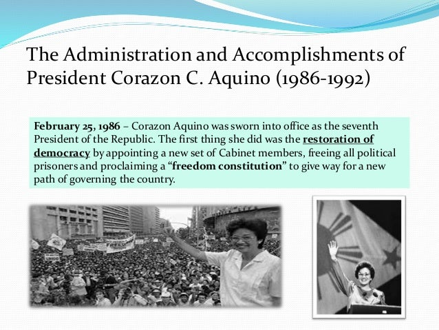 corazon aquino achievements