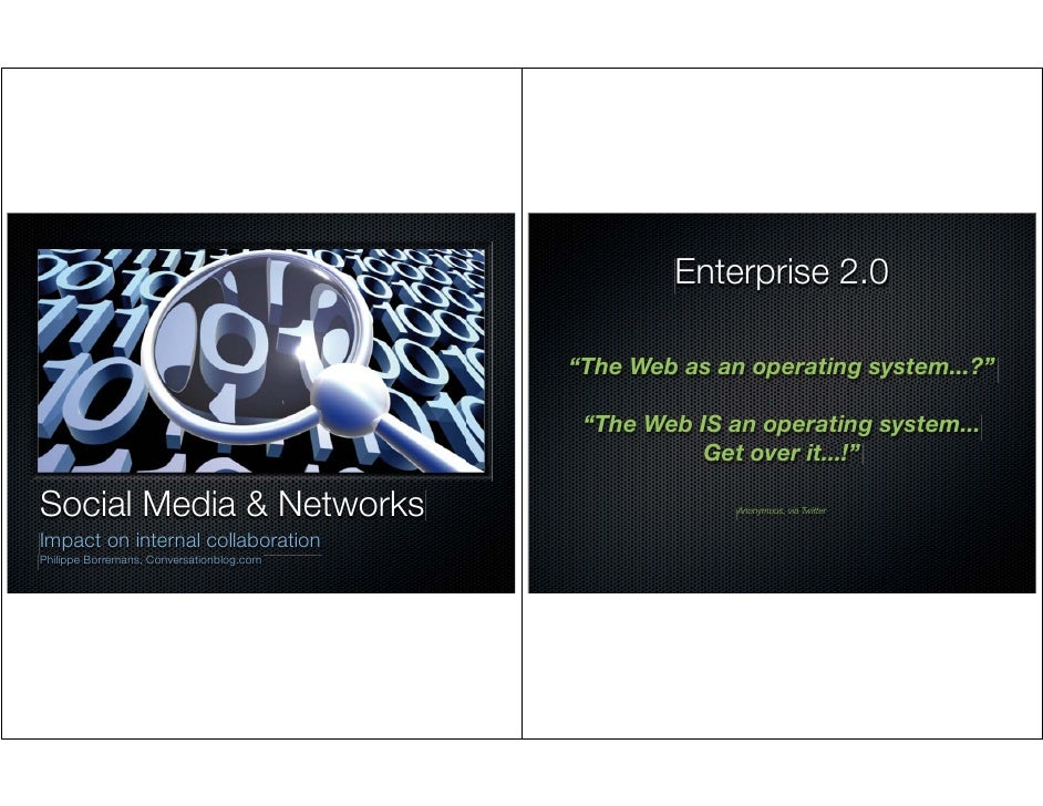 "Enterprise 2.0                                             ""The Web as an operating system...?""                           ..."