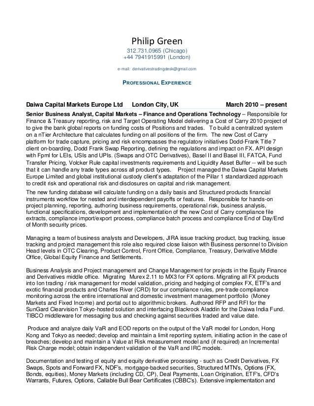 quantitative trader cover letter - Template