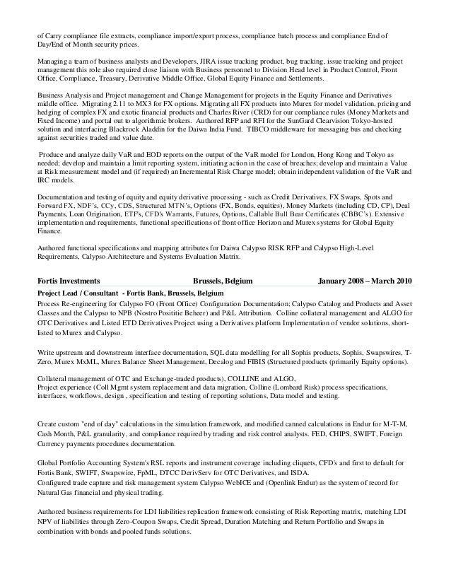 Independent Equity Trader Resume - Corpedo.com