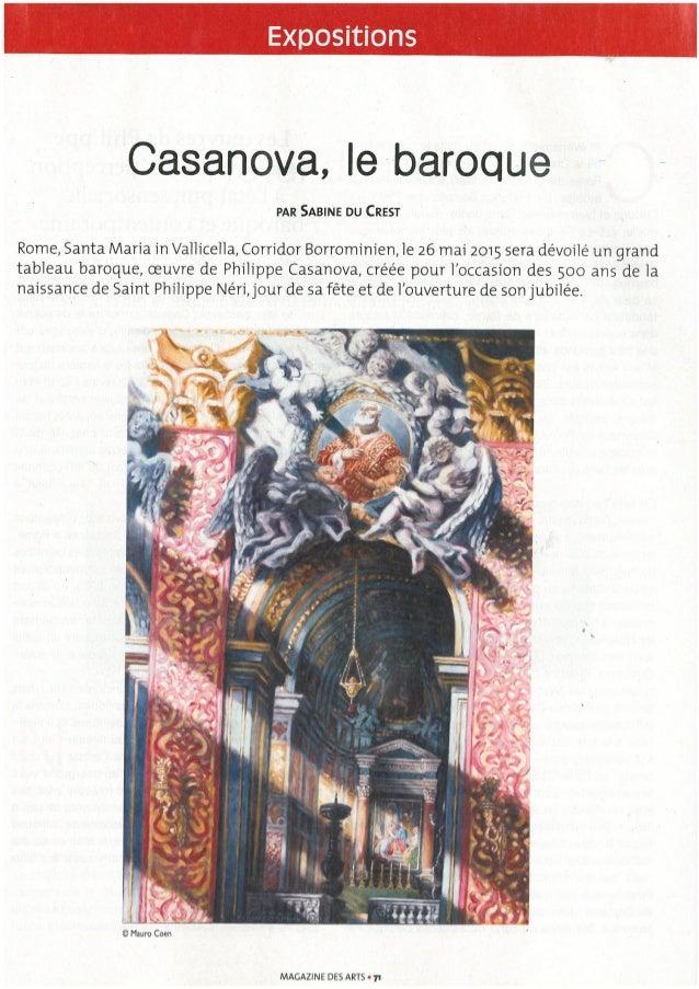 Casanova,  le baroque e  PAR SABINE DU CREST  Rome,  Santa Maria in Valliceila,  Corridor Borromiriieri,1e 26 mai 2015 ser...