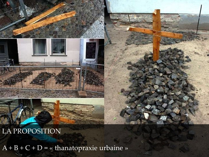 LA PROPOSITIONA + B + C + D = « thanatopraxie urbaine »