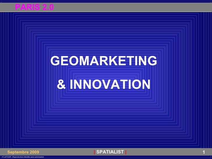 GEOMARKETING & INNOVATION