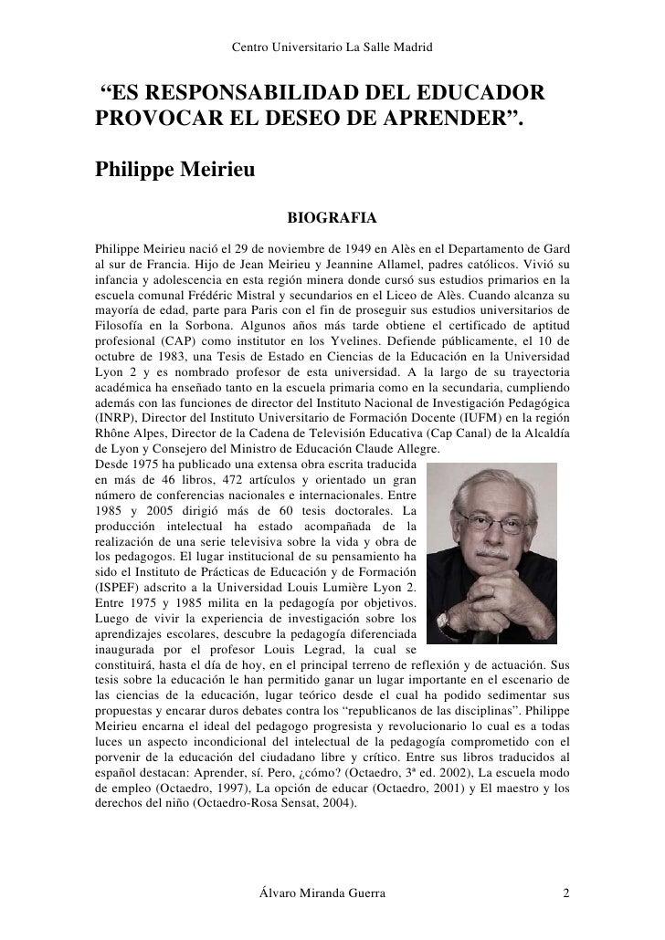 Philippe Meirieu Slide 2