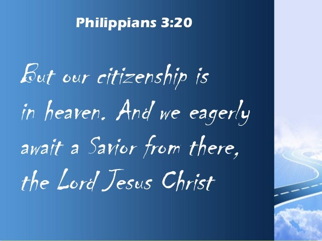 philippians 3 20 savior from there the lord jesus power point church