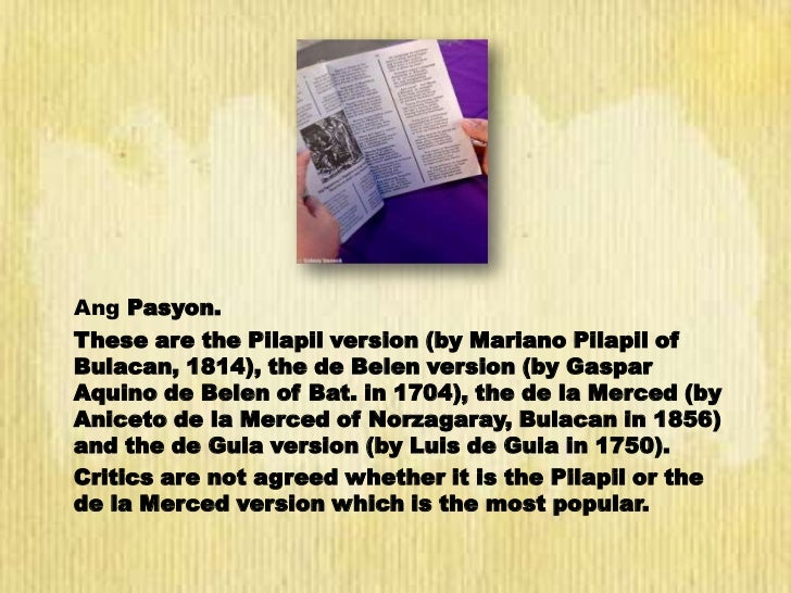 gaspar aquino de belen essay The literary forms in philippine literature monday, june 16 gaspar aquino de belen's ang mahal na passion ni jesu christong panginoon natin other filipino writers published the essay and short fiction in spanish in la vanguardia, el.